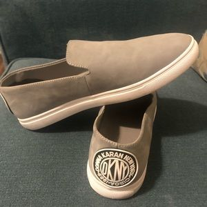 Gray DKNY slip on sneakers!